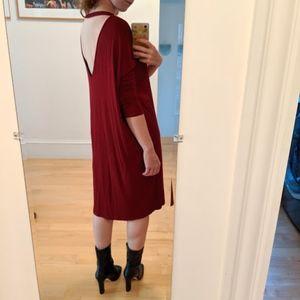Oversized Open Back Dress